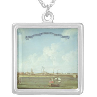 View of Fort St. George in the East Indies Silver Plated Necklace