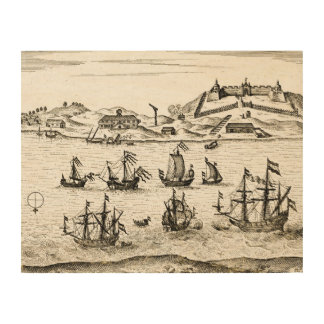 View of Fort Zeelandia on Taiwan May 1632 Wood Canvases