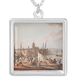 View of Frankfurt, 1814 Silver Plated Necklace