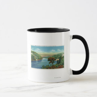 View of French King Bridge over Connecticut Mug