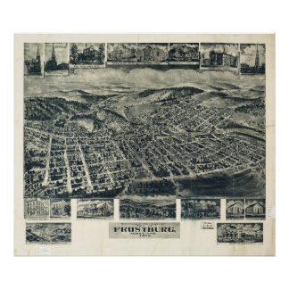 View of Frostburg Maryland by T.M. Fowler (1905) Poster
