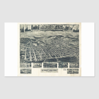 View of Frostburg Maryland by T.M. Fowler (1905) Rectangular Sticker