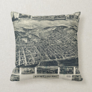 View of Frostburg Maryland by T.M. Fowler (1905) Throw Cushions