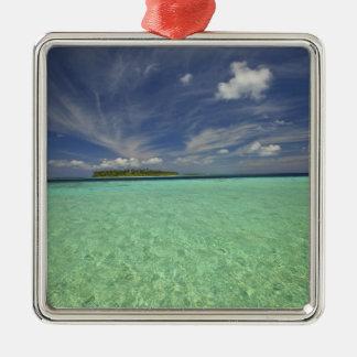 View of Funadoo Island from Funadovilligilli 2 Silver-Colored Square Decoration