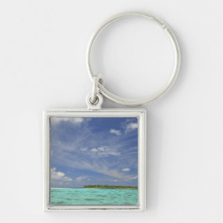 View of Funadoo Island from Funadovilligilli 3 Silver-Colored Square Key Ring