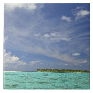 View of Funadoo Island from Funadovilligilli 3 Large Square Tile