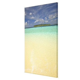 View of Funadoo Island from Funadovilligilli Stretched Canvas Print