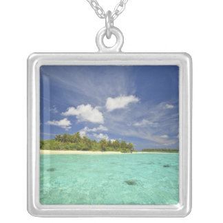 View of Funadoo Island from Funadovilligilli Silver Plated Necklace