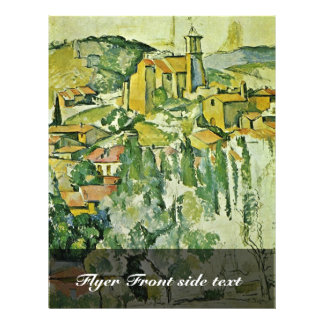 View Of Gardanne By Paul Cézanne (Best Quality) 21.5 Cm X 28 Cm Flyer