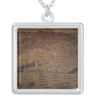 View of Genoa Silver Plated Necklace