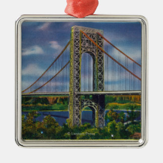 View of George Washington Bridge Christmas Ornament