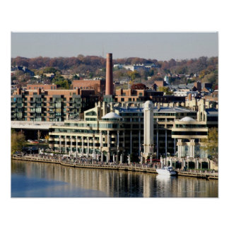 View of Georgetown and Waterfront-Washington DC Poster