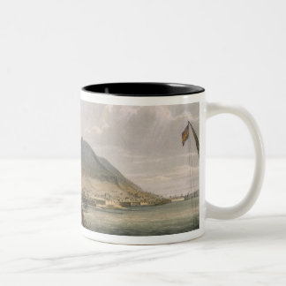 View of Gibraltar, engraved by Thomas Sutherland f Two-Tone Coffee Mug