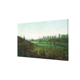View of Golfers Playing at Inverness Club Canvas Print