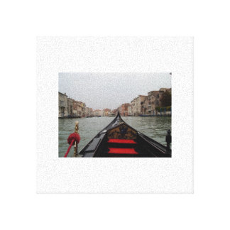 View Of Grand Canal From A Gondola Canvas Prints