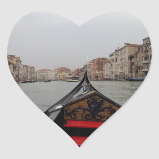View Of Grand Canal From A Gondola Heart Sticker