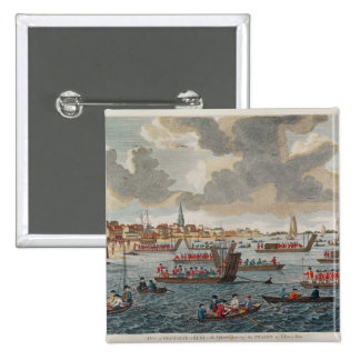 View of Gravesend with troops 15 Cm Square Badge