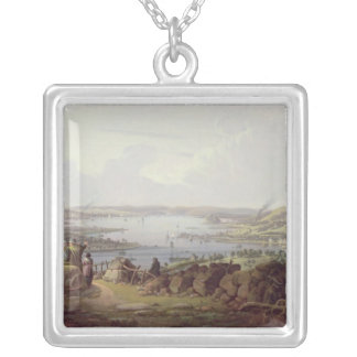 View of Greenock, Scotland Silver Plated Necklace