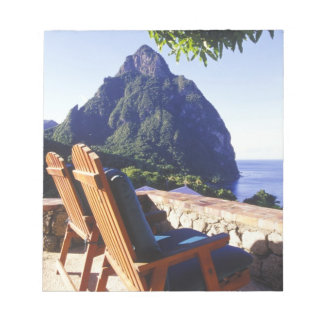 View of Gros Piton from Stonefield Estate Villa Notepad