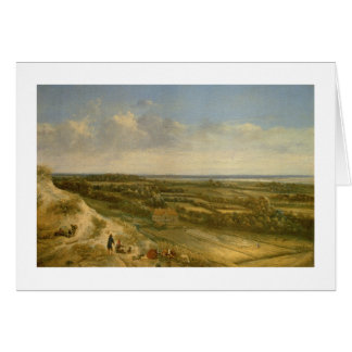 View of Haarlem from the Dunes (oil on canvas) Card