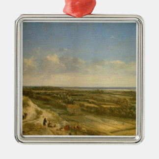 View of Haarlem from the Dunes (oil on canvas) Christmas Ornament