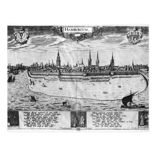 View of Hamburg Postcard