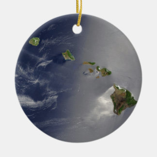 View of Hawaii from Space Christmas Ornament