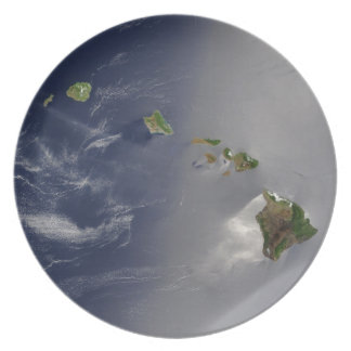 View of Hawaii from Space Plate