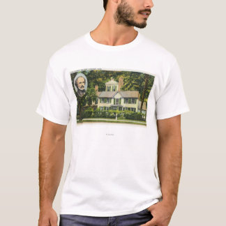 View of Hawthorne's Wayside Residence T-Shirt
