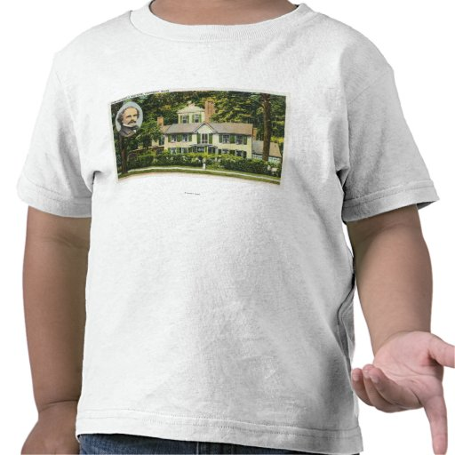View of Hawthorne's Wayside Residence T-shirts