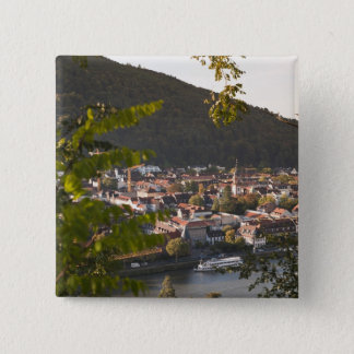 View of Heidelberg's Old Town 15 Cm Square Badge