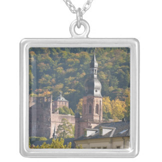 View of Heidelberg's Old Town 2 Silver Plated Necklace