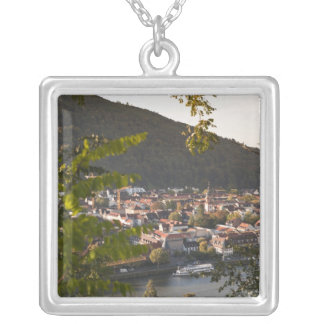 View of Heidelberg's Old Town Silver Plated Necklace