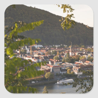 View of Heidelberg's Old Town Square Sticker