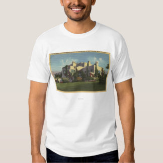 View of Herbert Hoover's Home, Stanford U. Tee Shirt