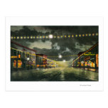 View of Hewitt Avenue at Night Postcard