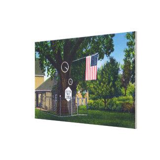 View of Historic Scythe Tree Farm Canvas Print