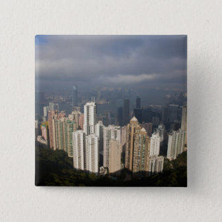 View of Hong Kong from The Peak 15 Cm Square Badge