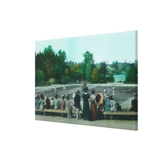 View of Hotel del Monte Tennis Grounds Gallery Wrapped Canvas