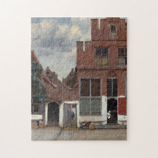 View of houses in Delft by Johannes Vermeer Puzzle