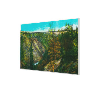 View of Hurricane Gulch Bridge, Alaska Canvas Print