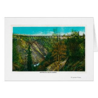 View of Hurricane Gulch Bridge, Alaska Card