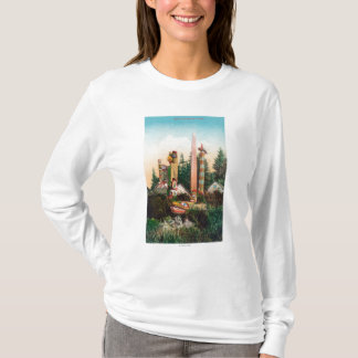 View of Indian Graves and Totempoles T-Shirt