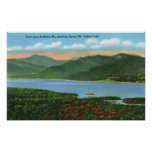View of Indian Lake and Snowy Mountain Poster