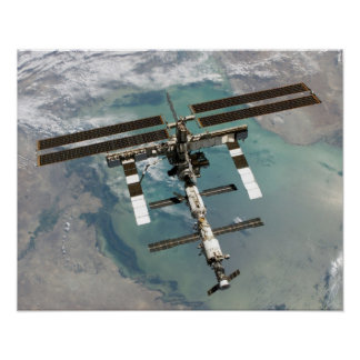 View of International Space Station (STS-114) Poster