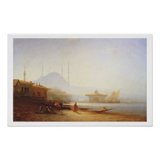 View of Istanbul, 1864 (oil on canvas) Poster