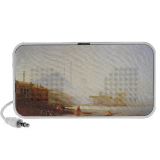 View of Istanbul, 1864 (oil on canvas) Travel Speakers