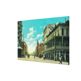 View of J and Mariposa Street CornerFresno, CA Canvas Print