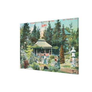 View of Japanese Tea Garden Stretched Canvas Prints