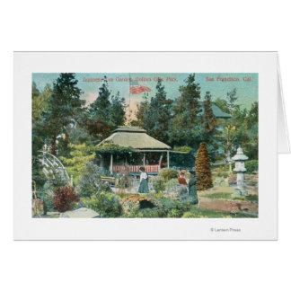 View of Japanese Tea Garden Greeting Card
